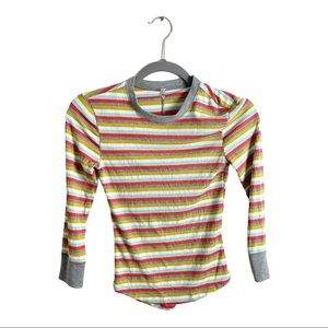 Free People Good On You Striped Thermal Top XS